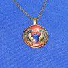 Egyptian Scarab Pendant-bronze_blue bkgrd