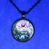 yin yang pendant - black
