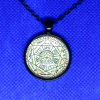 """Seal of The Seven Archangels Pendant with Black 18"""" Adjustable Chain Necklace"""