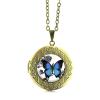 Vintage-look-Butterfly-Locket-Pendant_Blue-Morpho_antique gold