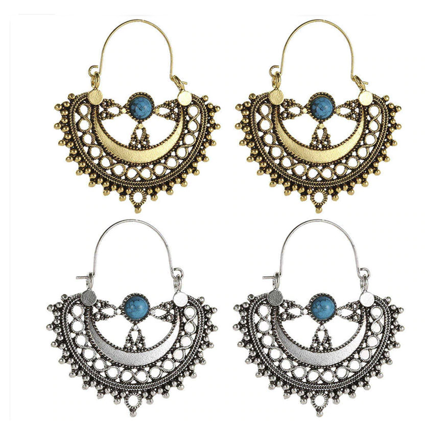 PA-122_Vintage-look-Semicircle-and-turquoise-hoop-earrings_bronze-and-silver-sets.jpg