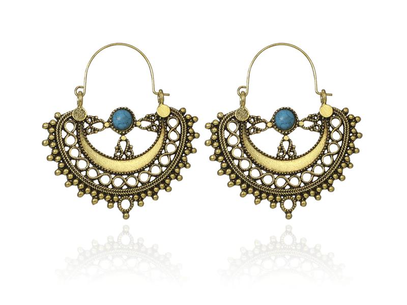 PA-122_Vintage-look-Semicircle-and-turquoise-hoop-earrings_bronze1.png