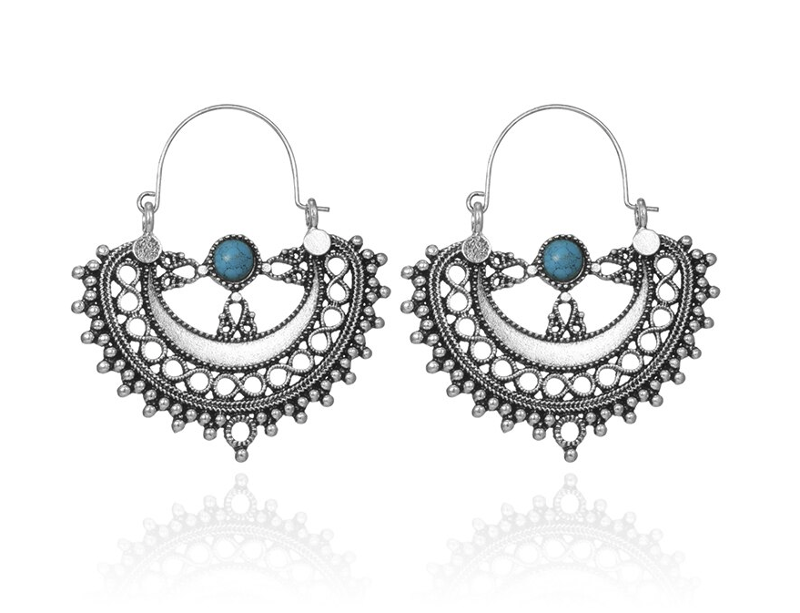 PA-122_Vintage-look-Semicircle-and-turquoise-hoop-earrings_silver1.png