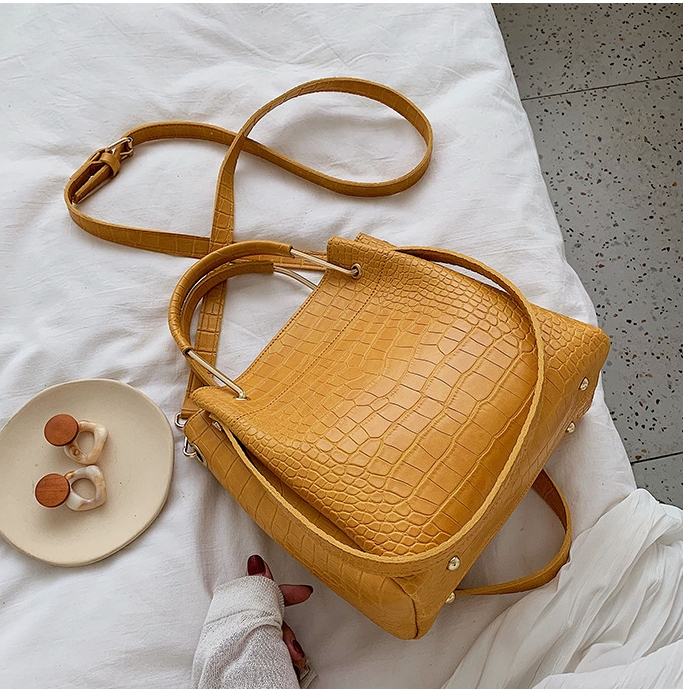 Yellow cross-body satchel