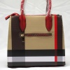 Red and Plaid Check Padlock 2-in-1 Bag-back