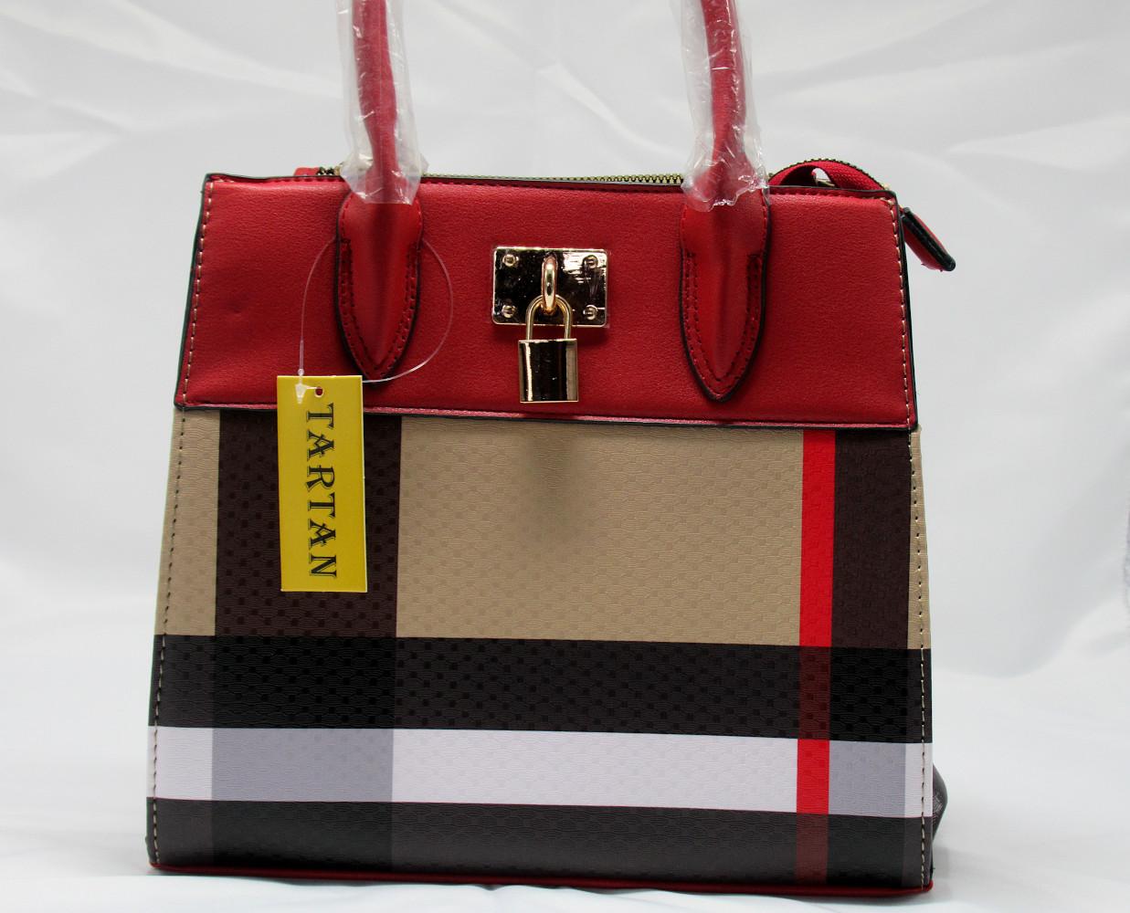 Red and Plaid Check Padlock 2-in-1 Bag-lock2