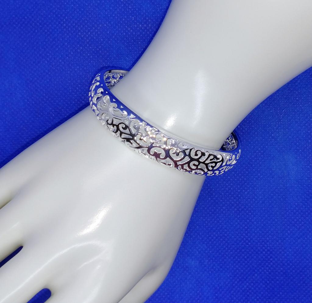 Open Filigree 925 Silver Bracele