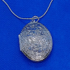 Flowers and Leaves 925 Silver Locket