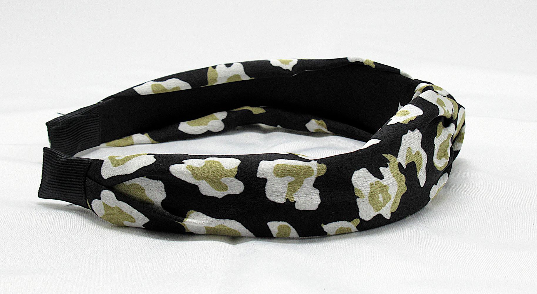 RJ-HB01_Leopard Print Knotted Headband-Black1