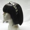 Leopard Print Knotted Headband-Black