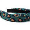 Leopard Print Knotted Headband-Green