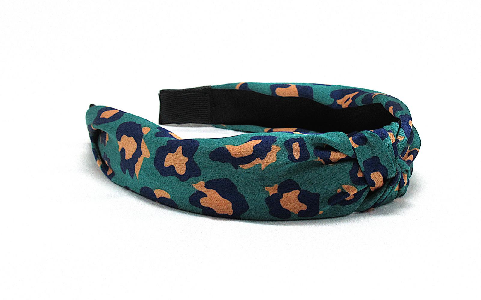 RJ-HB02_Leopard Print Knotted Headband-Green1