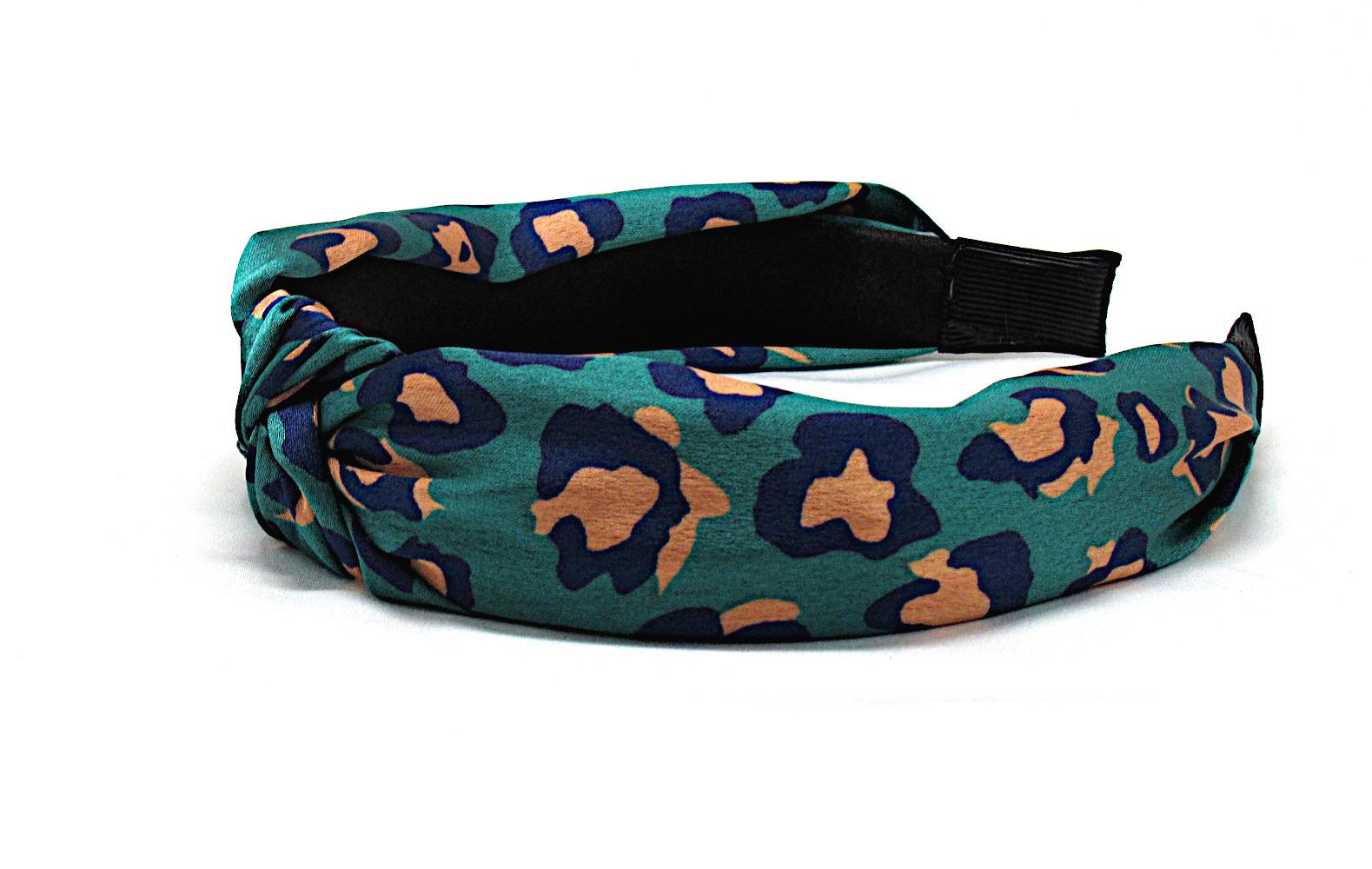 RJ-HB02_Leopard Print Knotted Headband-Green2