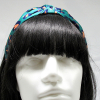 Leopard Print Knotted Headband-Green on model head front