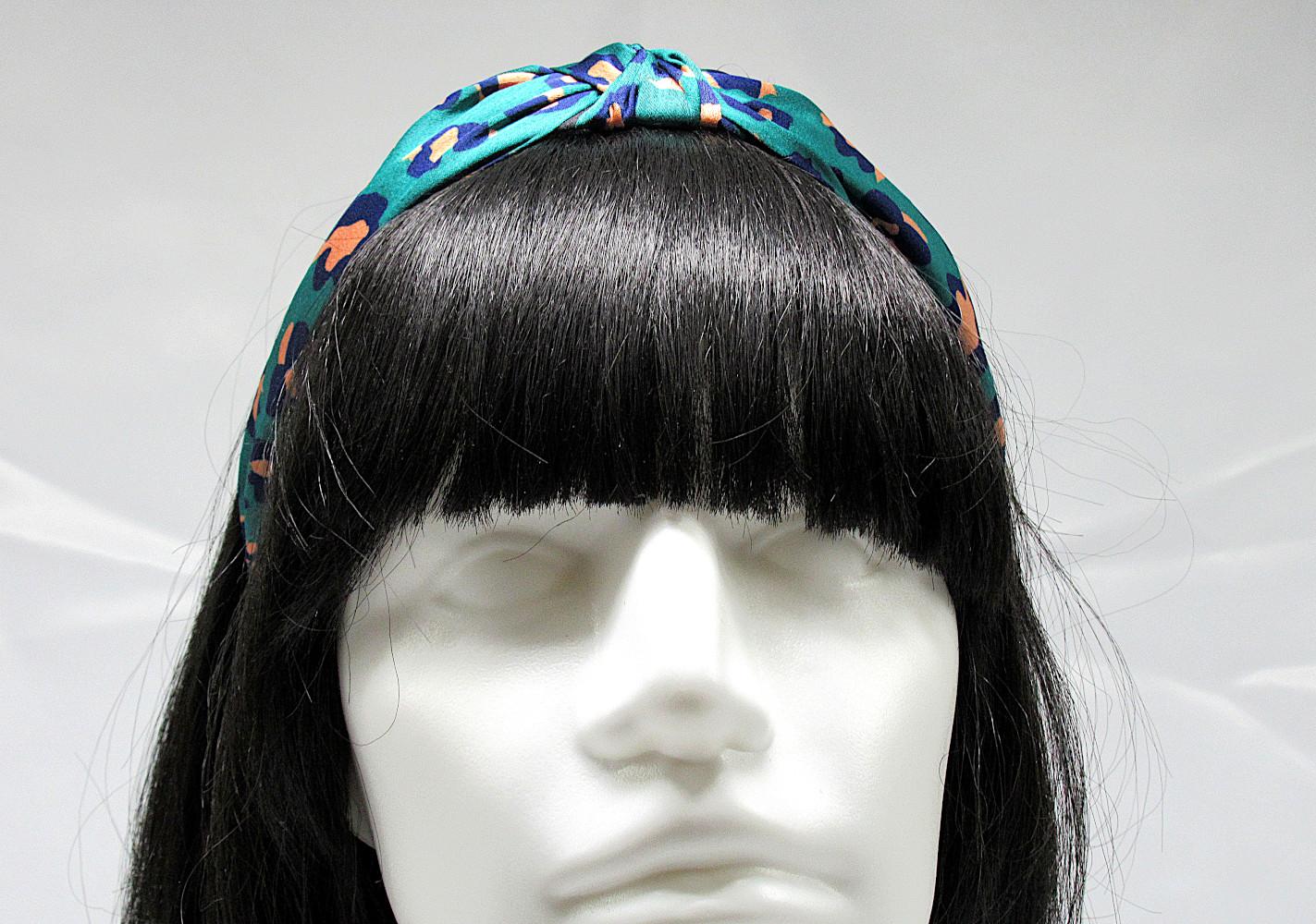 RJ-HB02_Leopard Print Knotted Headband-Green3
