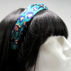 Leopard Print Knotted Headband-Green on model head side