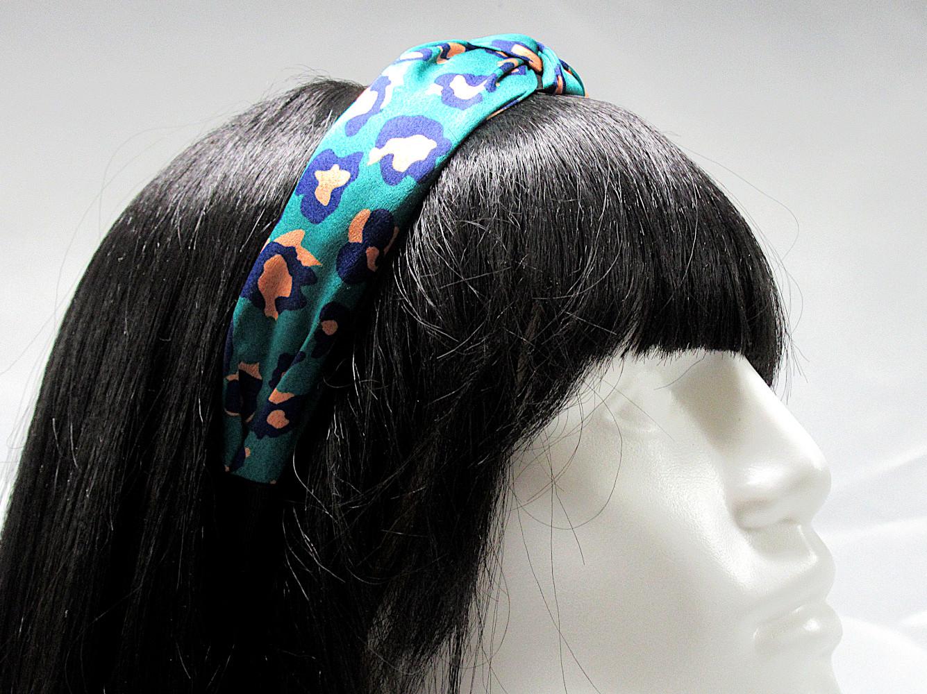 RJ-HB02_Leopard Print Knotted Headband-Green4
