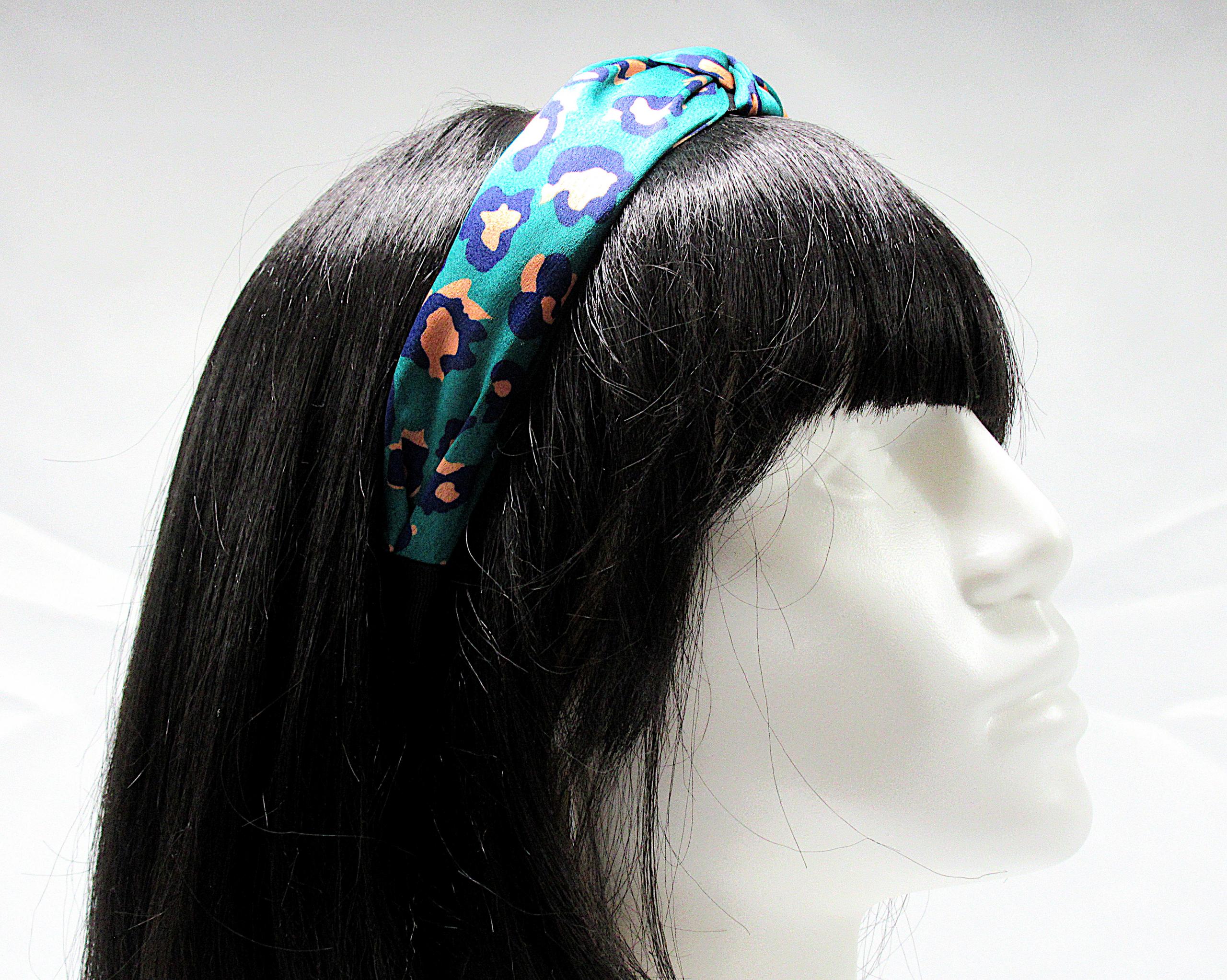 RJ-HB02_Leopard Print Knotted Headband-Green5