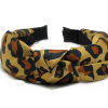 Leopard Print Knotted Headband-Brown