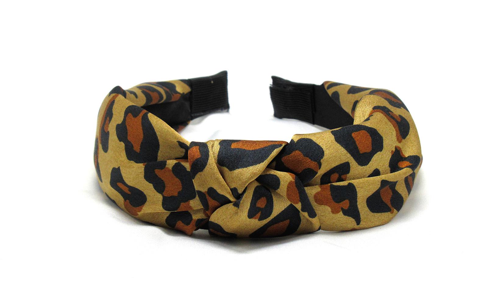 RJ-HB03_Leopard Print Knotted Headband-Brown1