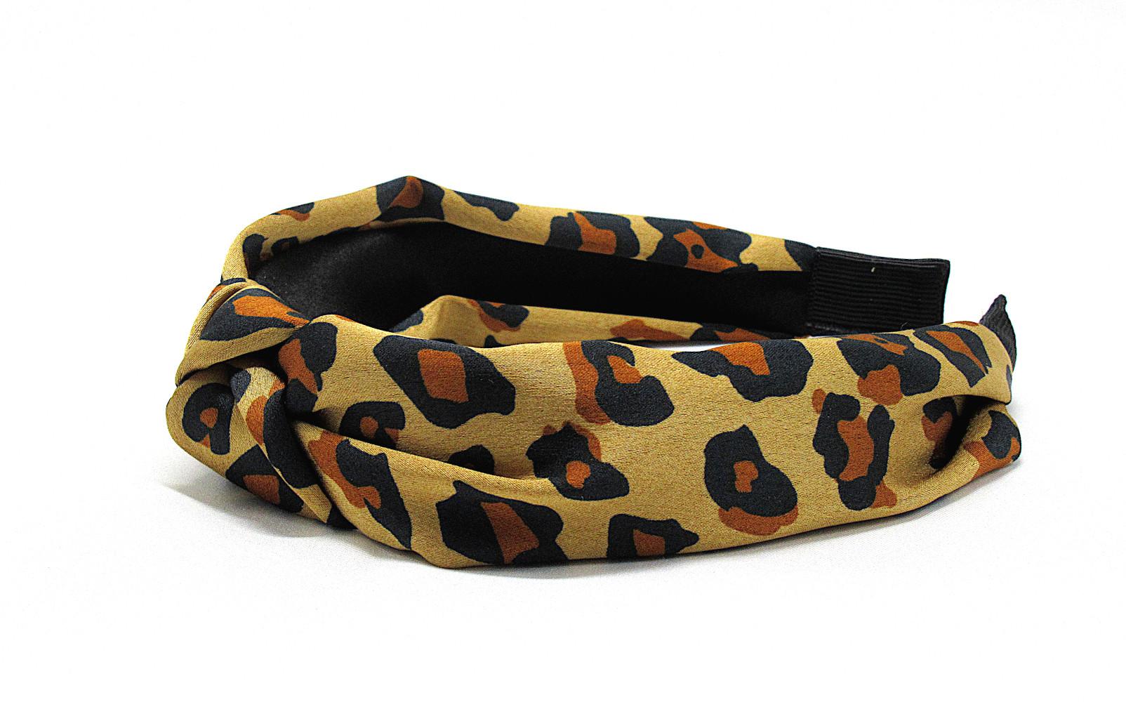 RJ-HB03_Leopard Print Knotted Headband-Brown3