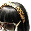 Leopard Print Knotted Headband-Brown on model head