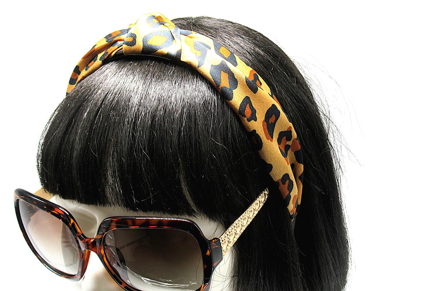 RJ-HB03_Leopard Print Knotted Headband-Brown5