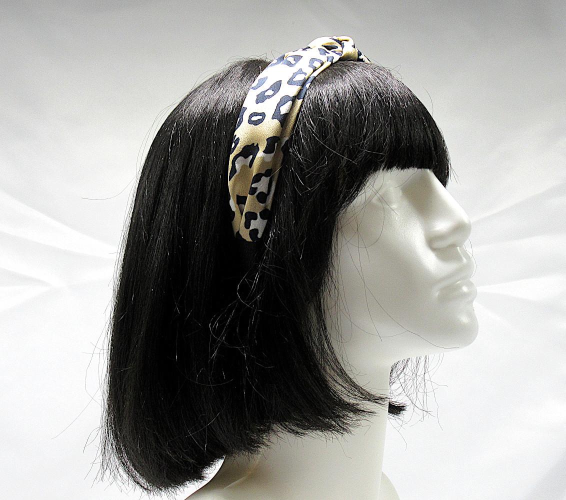 RJ-HB04_Leopard Print Knotted Headband-Khaki1