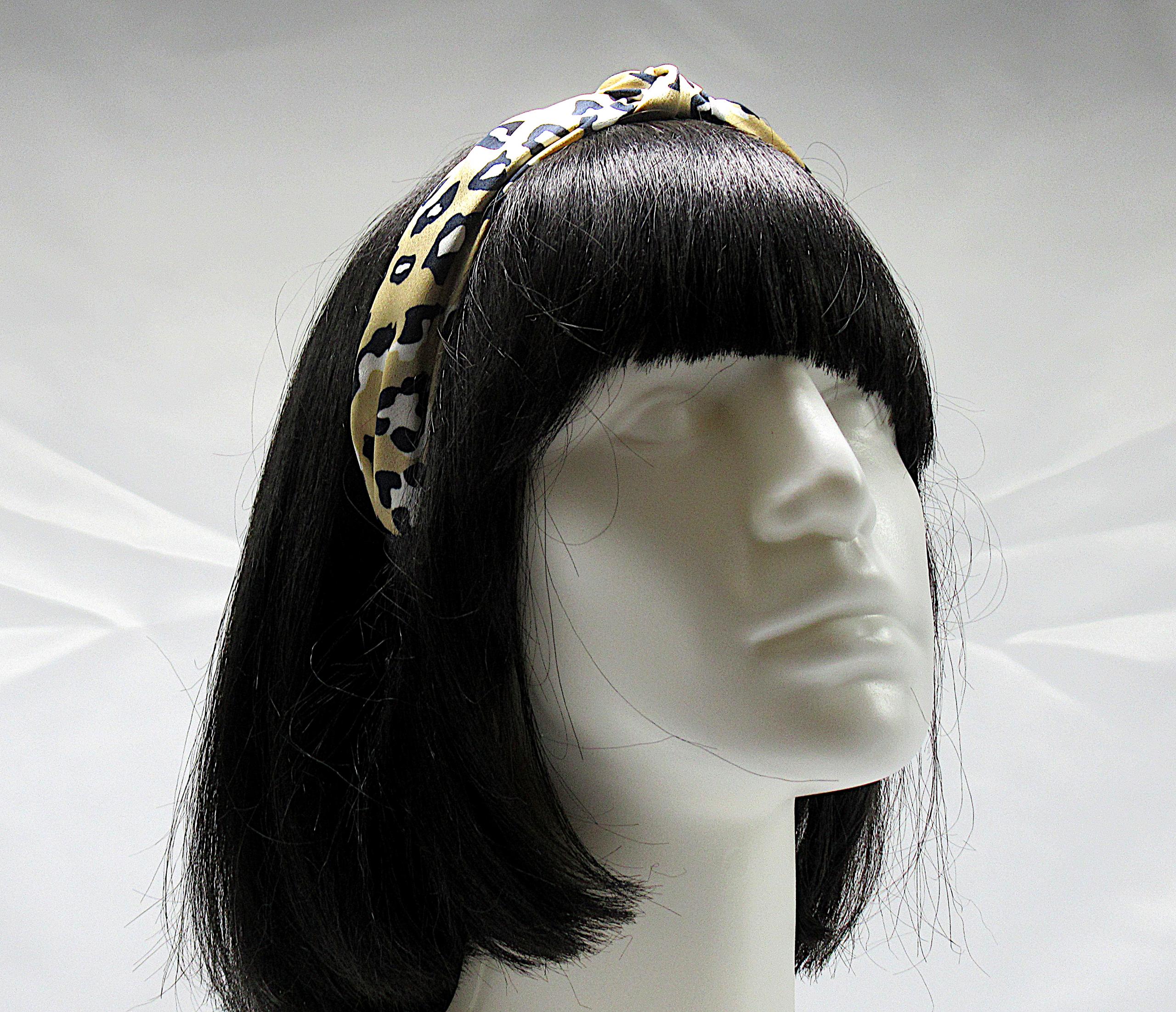 RJ-HB04_Leopard Print Knotted Headband-Khaki2