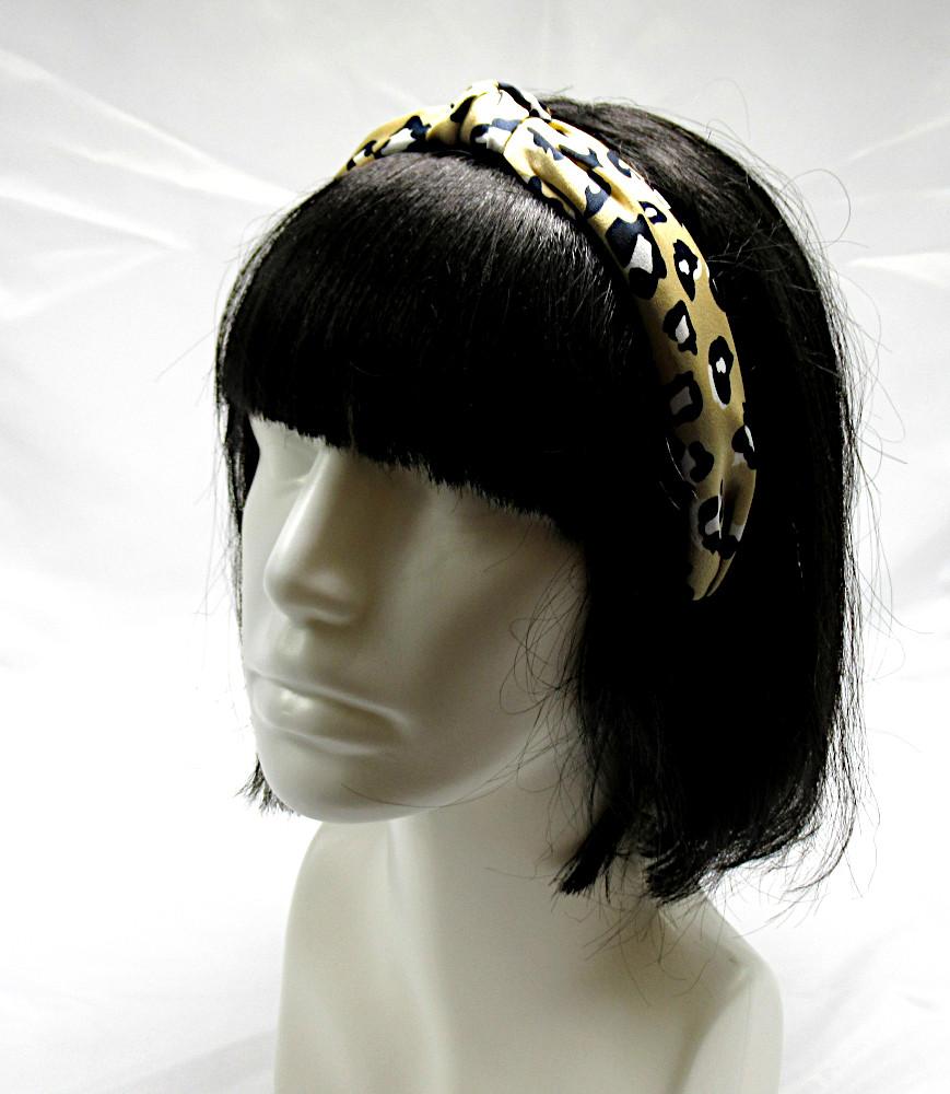 RJ-HB04_Leopard Print Knotted Headband-Khaki3