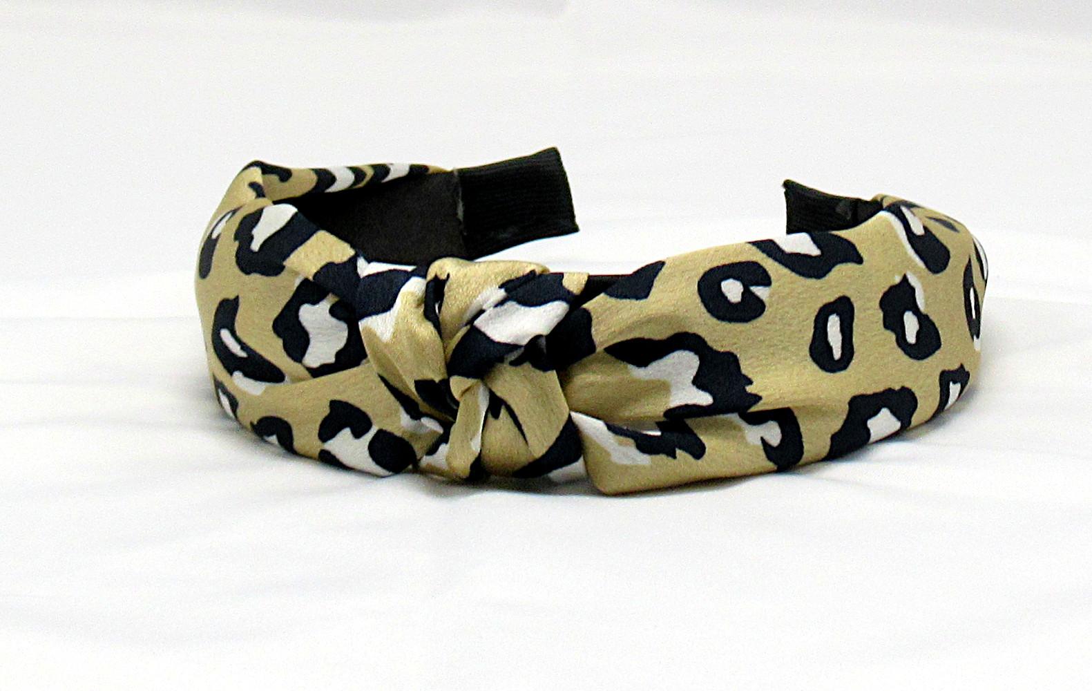 RJ-HB04_Leopard Print Knotted Headband-Khaki4