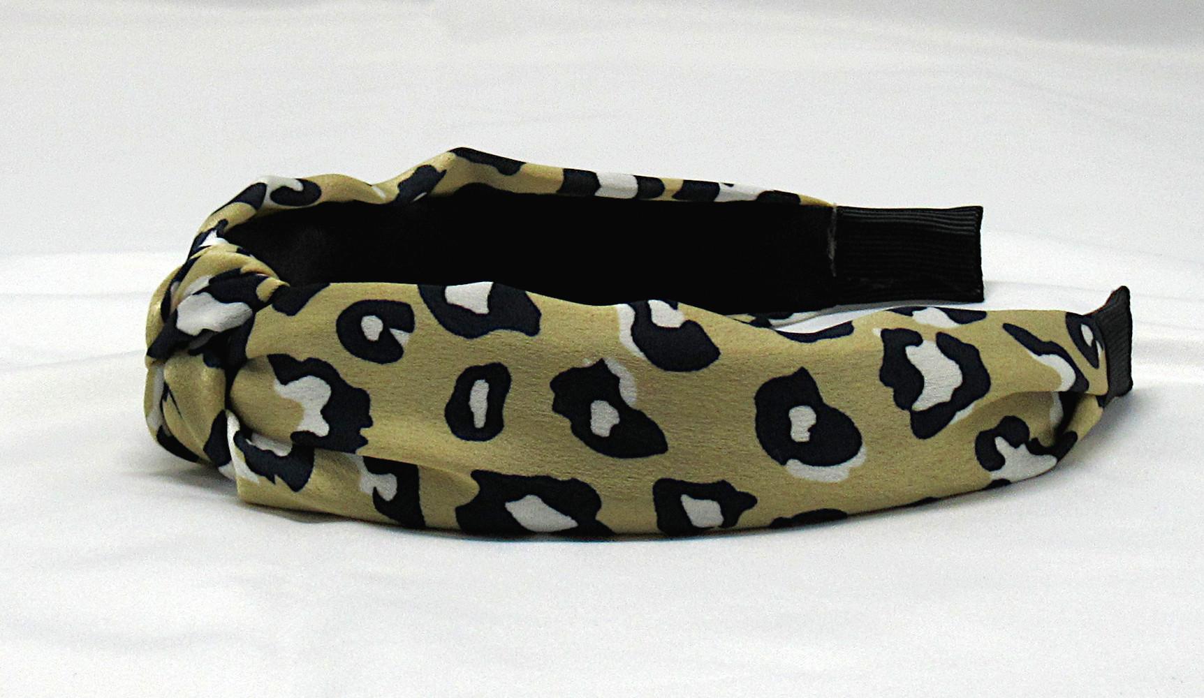 RJ-HB04_Leopard Print Knotted Headband-Khaki5