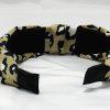 Leopard Print Knotted Headband-Khaki