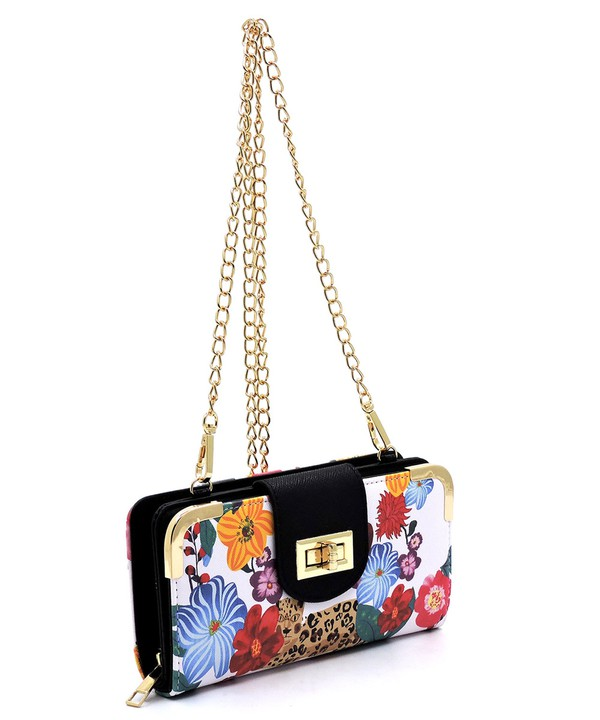 Flower and Leopard Evening Bag Clutch Purse_front profile