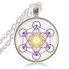 Sacred Geometry Pendant on white background