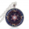 Sacred Geometry Pendant with Angels