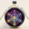Sacred Geometry Pendant dark background